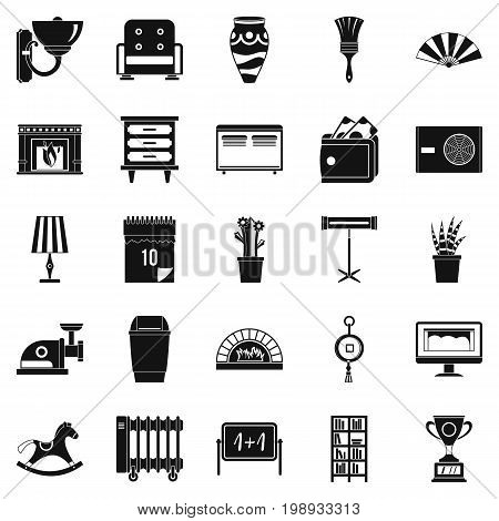 Accommodation icons set. Simple set of 25 accommodation vector icons for web isolated on white background