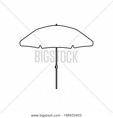Beach Umbrella Black Color Icon .