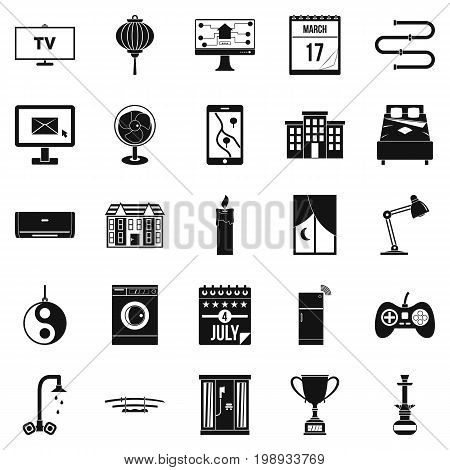 Dwelling icons set. Simple set of 25 dwelling vector icons for web isolated on white background