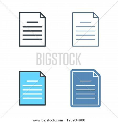 The document outline icon set. Office supply line symbols. Paper sheet linear pictograms. Vector thin contour infographic elements. Illustrations for web design, presentations, social networks.