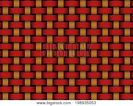 Vector seamless pattern of colored interweaving fiber