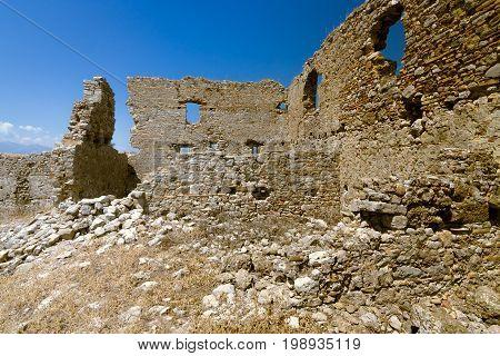 Ancient ruins of Aspendos. Anatolian coast. Turkey.