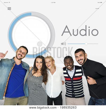 Audio Volume Music Player Concept