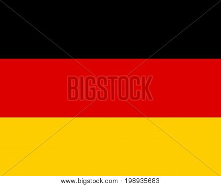 Detailed and accurate illustration of colored flag of Germany