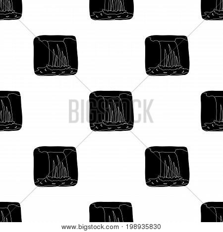 Canadian waterfall. Canada single icon in black style vector symbol stock illustration .