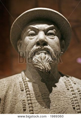 Chinese Warrior Sculpture