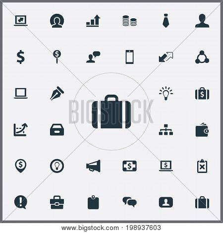 Elements Monitor, Cooperation, Authentication And Other Synonyms Idea, Undone And Purse.  Vector Illustration Set Of Simple Trade Icons.