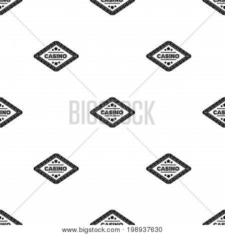 The emblem of the playing club with the inscription of the casino.Kasino single icon in black style vector symbol stock web illustration.