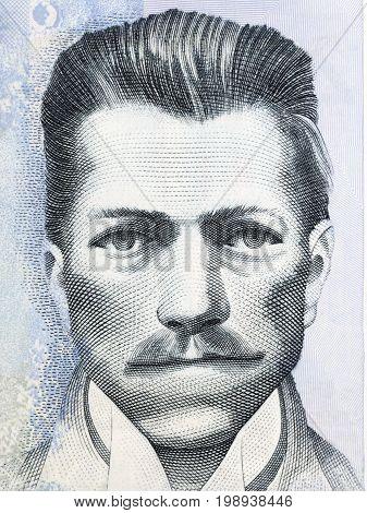 Julio Garavito Armero portrait from Colombian money