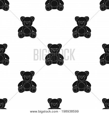 Toys donation icon in black design isolated on white background. Charity and donation symbol stock vector illustration.