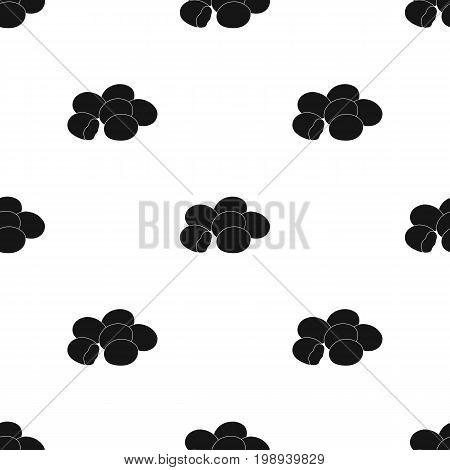 Chocolate dragee icon in black design isolated on white background. Chocolate desserts symbol stock vector illustration.