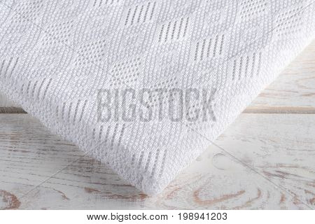 white and warm plaid on white background