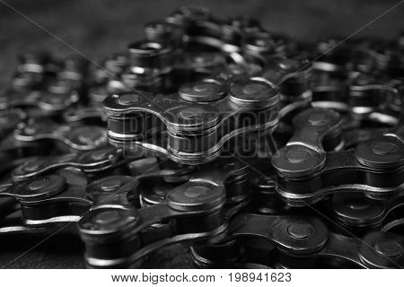 Bicycle chain, closeup