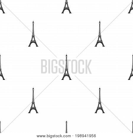 Eiffel tower icon in black design isolated on white background. Countries symbol stock vector illustration.