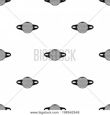 Reflector for cyclists. Icon for better visibility on the road.Cyclist outfit single icon in black style vector symbol stock web illustration.