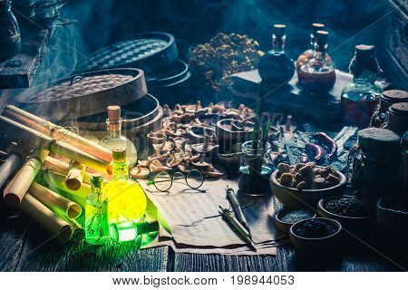 Looking For Umami Taste In Vintage Kitchen Laboratory