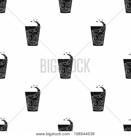 Transparent glass with water. Water to take my pills insulin for diabetics.Diabetes single icon in black style vector symbol stock web illustration.