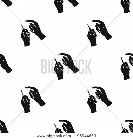Test for quick measurement of blood sugar on a strip of paper.Diabetes single icon in black style vector symbol stock web illustration.