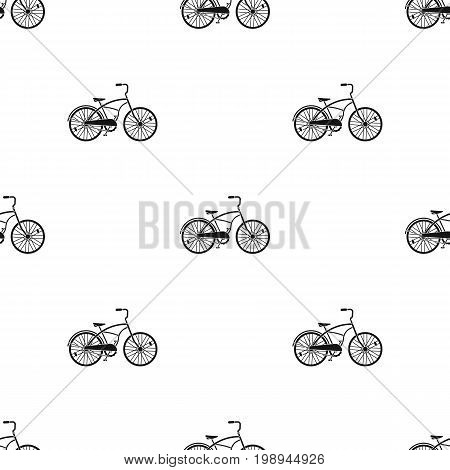 Blue two-wheeled bicycle for a ride through the city. Pleasure of transport.Different Bicycle single icon in black style vector symbol stock web illustration.
