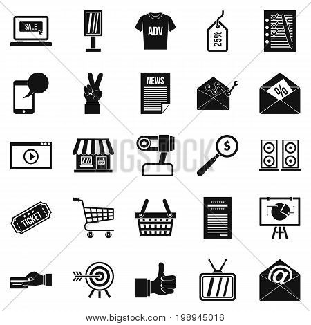 Digital age icons set. Simple set of 25 digital age icons for web isolated on white background
