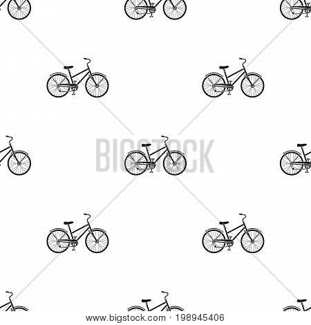 Rural women's bicycle. The vehicle of a healthy lifestyle.Different Bicycle single icon in black style vector symbol stock web illustration.