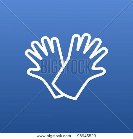 Isolated Gloves Outline Symbol On Clean Background