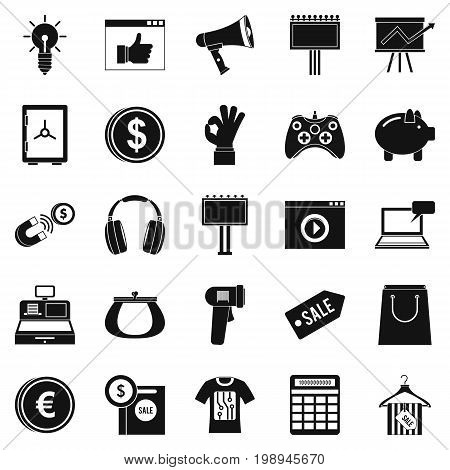 Digital distribution icons set. Simple set of 25 digital distribution vector icons for web isolated on white background