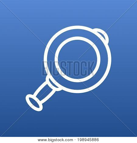 Isolated Loupe Outline Symbol On Clean Background