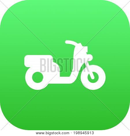 Isolated Moped Icon Symbol On Clean Background