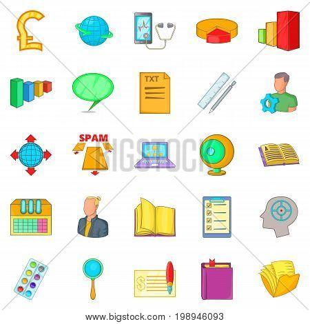 Profit icons set. Cartoon set of 25 profit vector icons for web isolated on white background