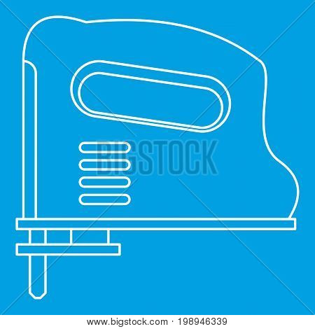 Pneumatic gun icon blue outline style isolated vector illustration. Thin line sign
