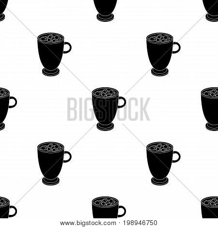 A cup of hot chocolate.Different types of coffee single icon in black style vector symbol stock illustration .