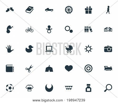 Elements Healthcare, Bookshop, Palm And Other Synonyms Soccer, Glasses And Pickup.  Vector Illustration Set Of Simple Kid Icons.