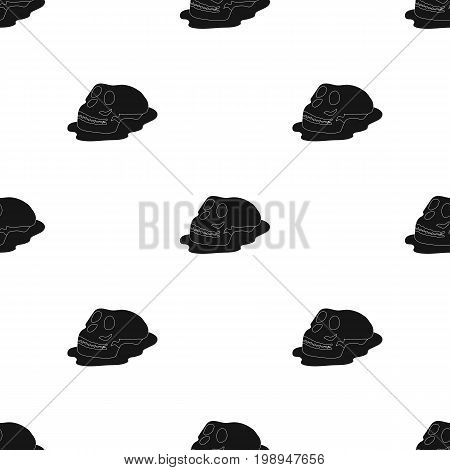 Human fossils icon in black design isolated on white background. Dinosaurs and prehistoric symbol stock vector illustration.