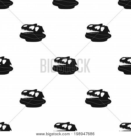 Dinosaur fossils icon in black design isolated on white background. Dinosaurs and prehistoric symbol stock vector illustration.