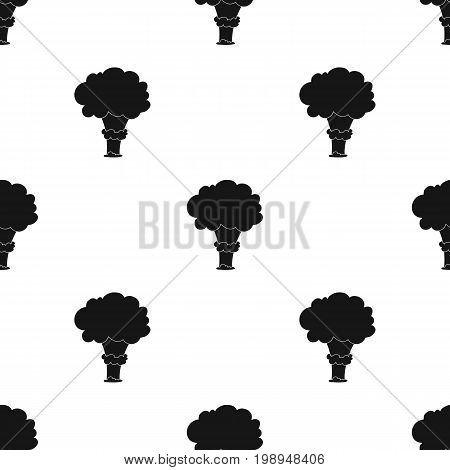 Nuclear explosion icon in black design isolated on white background. Explosions symbol stock vector illustration.