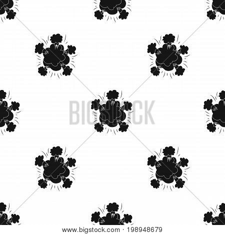 Explosion icon in black design isolated on white background. Explosions symbol stock vector illustration.