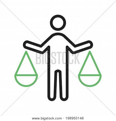 Principles, integrity, ethics icon vector image. Can also be used for Personality Traits. Suitable for mobile apps, web apps and print media.