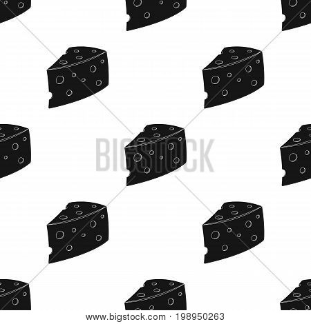 Rustic homemade cheese. Homemade homemade dairy product.Farm and gardening single icon in black style vector symbol stock web illustration.