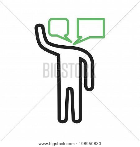 Talkative, communication, speak icon vector image. Can also be used for Personality Traits. Suitable for mobile apps, web apps and print media.