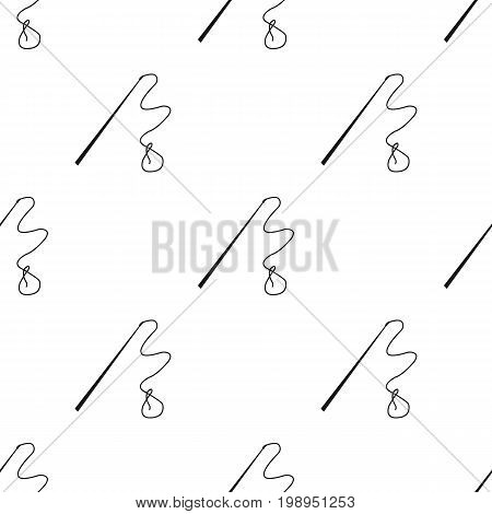 Mongolian whip.The whip is for herding cattle.Mongolia single icon in black style vector symbol stock web illustration.