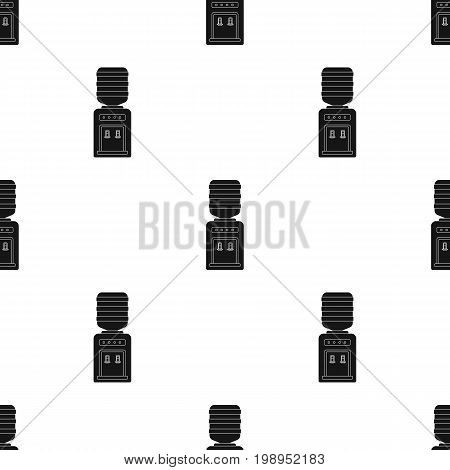 Office water cooler icon in black style isolated on white background. Office furniture and interior symbol vector illustration.