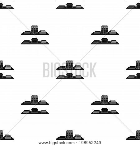 Office shelves with file folders icon in black style isolated on white background. Office furniture and interior symbol vector illustration.