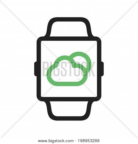 Weather, app, smart icon vector image. Can also be used for Smart Watch. Suitable for mobile apps, web apps and print media.