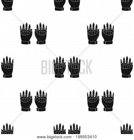 Fingerless gloves icon in black design isolated on white background. Paintball symbol stock vector illustration.