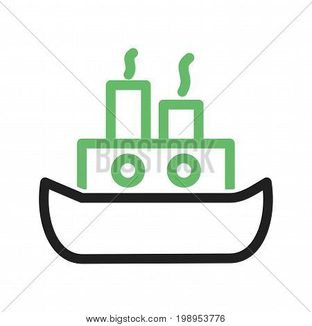 Ship, steamship, travel icon vector image. Can also be used for pirate. Suitable for use on web apps, mobile apps and print media.