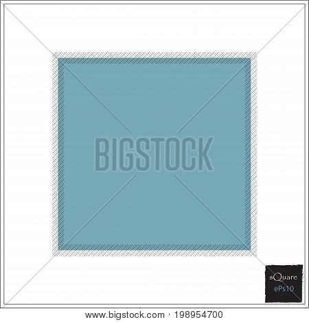 Vector Design Square Elements For Template. Frame Of Square For Website Or Business Template. Grunge