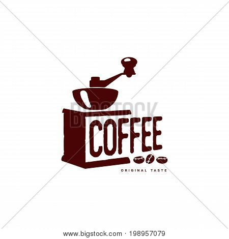 Vector coffee grinder, mill . Coffee concept flat icon. line icon illustration isolated on a white background.
