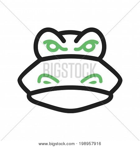 Crocodile, face, mouth icon vector image. Can also be used for Animal Faces. Suitable for use on web apps, mobile apps and print media.