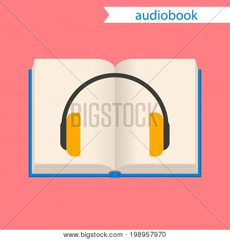 audiobook on a white background, icon. vector illustration.